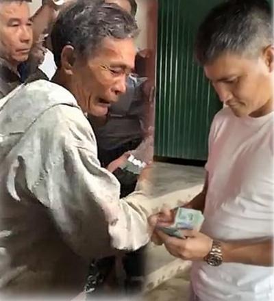 Người dân bật khóc vì được Công Vinh - Thủy Tiên hỗ trợ 200 triệu trả nợ ngân hàng