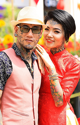 2 cặp đôi xăm hình kín người: Nếu chia tay, sẽ tìm người khác có nhiều hình xăm hơn